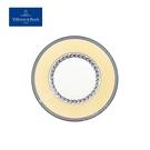 德國Villeroy&Boch-奧頓系列-22cm圓盤-Fleur黃邊花環
