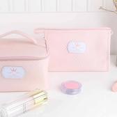 手提化妝包女款大容量可愛便攜旅游必備多功能化妝品包收納包韓版 居享優品