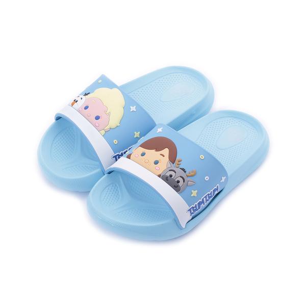 DISNEY Tsum Tsum 造型拖鞋 藍 中大童鞋 鞋全家福