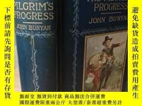 二手書博民逛書店THE罕見PILGRIM S PROGRESS 含8副彩圖及若干