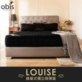 OBIS鑽黑系列-Louise蜂巢獨立筒無毒床墊/雙人加大6尺/H&D東稻家居