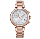 CITIZEN 星辰 光動能 三眼時尚腕錶 FB1453-55A 玫瑰金_35mm