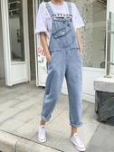 背帶褲女夏季新款韓版寬鬆森女系牛仔初戀褲學生休閒連體褲子 亞斯藍