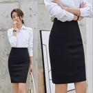 窄裙 簡設正裝短裙子工裝西裙職業裙包臀裙工作裙半身裙高彈力一步裙女 霓裳細軟