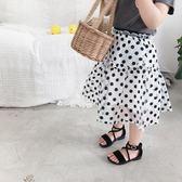 【新年鉅惠】女童波點半身裙 兒童蓬蓬裙泡泡紗裙