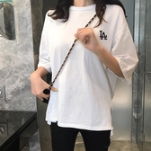 短袖T恤 白色短袖T恤女2020春夏韓版內搭打底衫寬鬆百搭洋氣刺繡純棉上衣