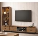 【森可家居】亞伯斯8尺L櫃(全組) 10ZX352-2 客廳高低櫃 展示櫃 電視櫃 木紋質感 工業風 MIT