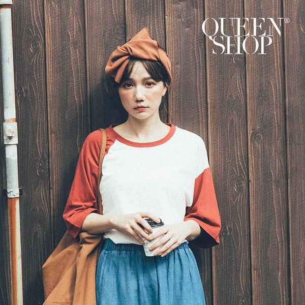 Queen Shop【07090233】蝴蝶結造型寬版髮帶 五色售*現+預*