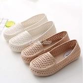 洞洞鞋 夏季女款洞洞鏤空女鞋塑膠白色涼鞋防滑平底護士鞋孕婦媽媽鞋舒適 快速出貨