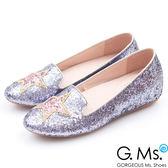 G.Ms. Lucky Star-閃耀星星亮片內增高豆豆鞋*紫灰