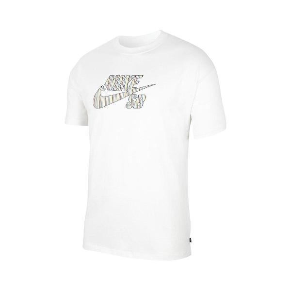 NIKE 短袖T恤 SB Logo Skate T-Shirt 白 彩色 男款 短T 運動休閒 【ACS】 CW1463-100
