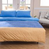 [SN]#U069#細磨毛天絲絨5x6.2尺標準雙人床包被套四件組