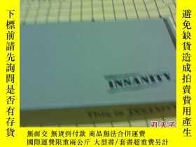 二手書博民逛書店罕見INSANITY(13張DVD碟,英文原版,有外包裝)Y20