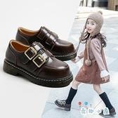 女童皮鞋真皮學生單鞋軟底公主鞋【奇趣小屋】