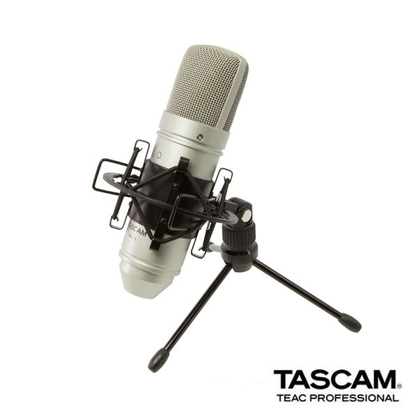 黑熊館 TASCAM 達斯冠 TM-80 電容式麥克風 錄音 收音 音樂 MIC 防震架 桌面支架