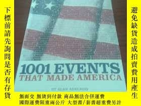 二手書博民逛書店1001罕見Events that made americaY3