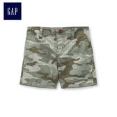 Gap男嬰兒 迷彩印花休閒短褲 442265-復古棕櫚色