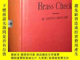 二手書博民逛書店厄普頓·辛克萊《The罕見Brass Check,賄賂》1936