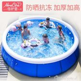 泳池 大號家庭兒童成人小孩泳池戲水充氣加大加厚大型夾網游泳池 『全館免運』igo