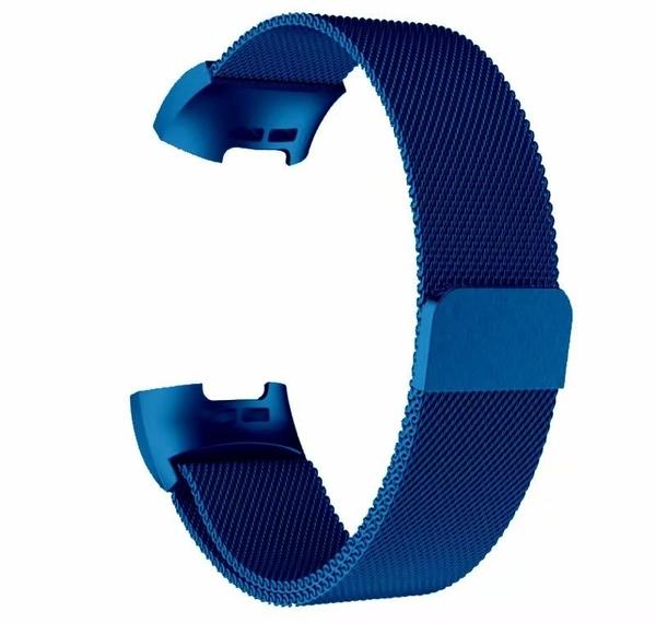 Fitbit charge 3 智慧手錶 手環 米蘭尼斯 網帶不銹鋼 錶帶 鏈式腕帶 charge3 磁吸金屬替換錶帶 charge4