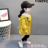 寶寶外套 新款女童外套風衣秋季韓版童裝女寶寶長袖洋氣春秋裝一歲『快速出貨』