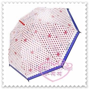 ♥小花花日本精品♥Hello Kitty 雨傘直傘雨天必備點點愛心蛋糕大臉蝴蝶結造型握把日本限定 (預購)