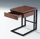 【南洋風休閒傢俱】時尚茶几系列-胡桃抽屜小方几 咖啡桌 沙發桌 邊桌 CX692-8