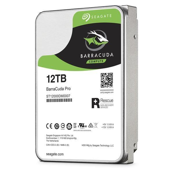 Seagate新梭魚BarraCuda Pro 12TB 3.5吋桌上型硬碟(ST12000DM0007)