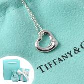 Tiffany&Co.正品 全新Elsa Peretti 經典系列 鏤空愛心純銀項鍊
