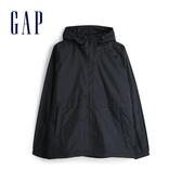 Gap 男裝 活力撞沙拉鍊連帽外套 548723-純正黑色