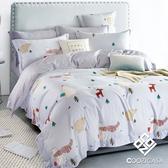 【COOZICASA商務熊】加大四件式吸濕排汗天絲兩用被床包組