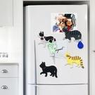 【BlueCat】直直向前走側臉翹臀貓磁鐵掛勾 冰箱磁鐵 掛鉤