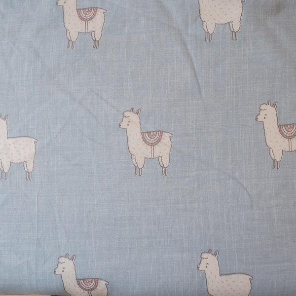 羊駝森林 S1單人床包二件組 100%精梳棉(60支) 台灣製 棉床本舖