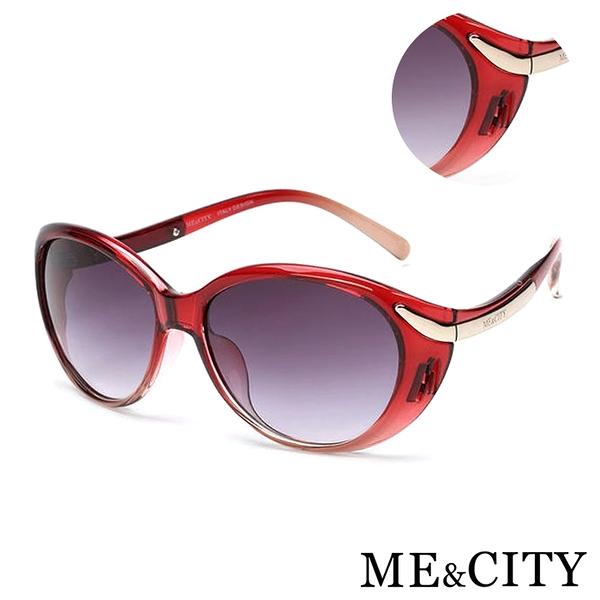 ME&CITY 歐美流線型漸層太陽眼鏡 義大利設計款 抗UV400 (ME 1200 E01)