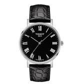 ◆TISSOT◆EVERYTIME MEDIUM簡約大三針石英腕錶T109.410.16.053.00黑