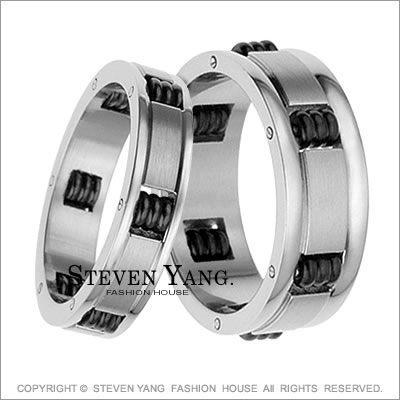 情侶對戒 西德鋼飾 素面滾輪 戒指尾戒 時尚個性款單個價格*黑膽石