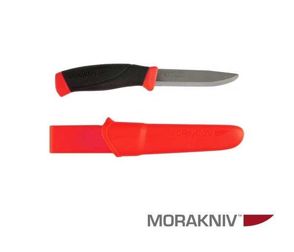 丹大戶外用品【MORAKNIV】瑞典 COMPANION F RESCUE 不鏽鋼直刀 鋸齒刀刃 橘紅 12213