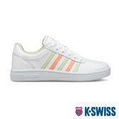 K-SWISS Court Chesterfield時尚運動鞋-女-白/粉橘/粉綠