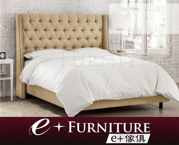 『 e+傢俱 』BB37 柯克蘭 Kirkland 雙人床架 | 布質床 | 5尺雙人 | 6尺雙人 | 時尚 可訂做