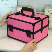 專業多層大號多功能手提單肩化妝箱美甲美妝紋繡