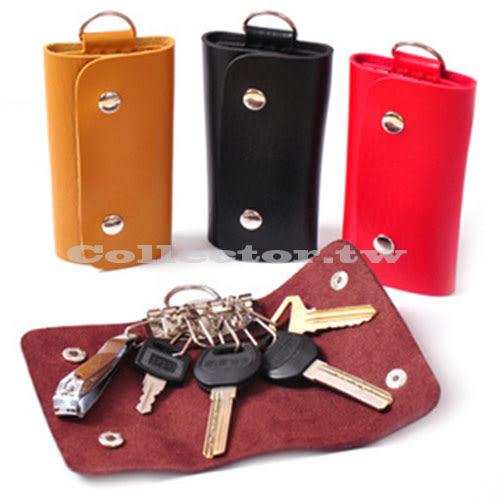 【超取199免運】時尚簡約男女款鑰匙包 仿真皮鑰匙包 汽車鑰匙扣