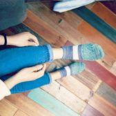 聖誕節交換禮物-襪子女士日系原宿復古船襪棉粗線秋季低筒淺口短襪女