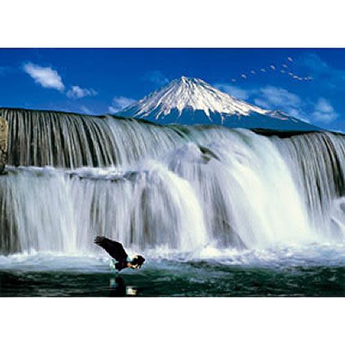 【P2 拼圖】風景之美系列-瀑布 & 富士山  520片 拼圖
