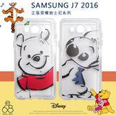正版授權 迪士尼 三星 J7 2016新版 手機殼 彩繪風 手繪 米妮 米奇 維尼 史迪奇 保護殼 保護套