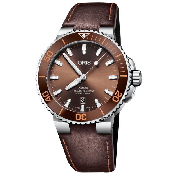 Oris 豪利時 Aquis 時間之海潛水300米日期機械錶-43.5mm 0173377304152-0752412EB