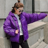 現貨紫L保暖羽絨棉服外套616