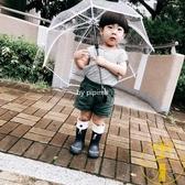 兒童雨傘防雨直立傘寶寶可愛街拍透明雨傘彩點雨傘【雲木雜貨】
