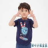 Gap男幼童純棉童裝短袖T恤夏季2020新款洋氣印花男童夏裝 KP2438急速出貨【甜心小妮童裝】