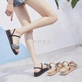 女性平底涼鞋 兩穿涼拖鞋女外穿時尚新款鬆糕厚底涼鞋女 珍妮寶貝