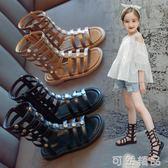 女童涼鞋新款時尚夏季小女孩韓版羅馬鞋小童公主鞋子 可然精品
